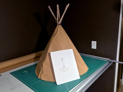 First version and final idea (Dunstan) Tags: teepee tipi