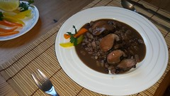 2016-02-12 18.26.21 (Damien_Toman) Tags: new wild cooking beans hare jus sauce au zealand nz seared malbec reduction