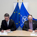 Signing ceremony of the Technical Arrangement on Cyber Defence between NATO (NCIRC) and the EU (CERT-EU)