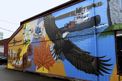 The True North Strong and Free (ruthlesscrab) Tags: canada wall bc eagle publicart mapleridge seaspan