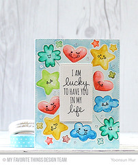 Watercolor Baby Card (RejoicingCrafts) Tags: baby watercolor handmade coloring stamping myfavoritethings babycard papercrafts luckycharm cardmaking mft watercoloring mftstamps distressmarkers luckystampset