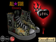 All Star Love Shoes (*The Grey Goose) Tags: cute sexy men love shoe women shoes day heart avatar linden valentine romance sl secondlife labs valentines