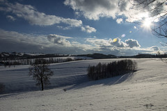 Dramatic Skies (stopdead2012) Tags: trees sky sun snow clouds germany oberoelsnitz