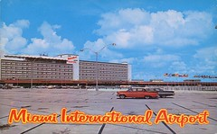 Miami International Airport, Florida (SwellMap) Tags: architecture plane vintage advertising design pc airport 60s fifties aviation postcard jet suburbia style kitsch retro nostalgia chrome americana 50s roadside googie populuxe sixties babyboomer consumer coldwar midcentury spaceage jetset jetage atomicage