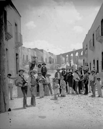 Zacatecas calle de los arcos ca1900