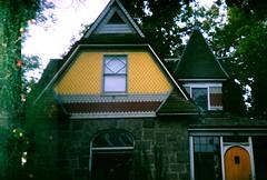 Boise house 2 (jfpj) Tags: house film yellow fuji toycamera historic idaho boise plasticcamera fuji400film holga135 10faves