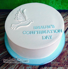 Shaun - Confirmation Cake (PerfectionistConfectionist) Tags: weddingcakes christeningcake cakesnorthcountydublin birthdaycakedublin confirmationcakedublin confirmationdublin bespokecakedublin