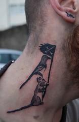 Tattoo $ 54 (Duck-26) Tags: black tattoo neck pie duck rat 26 flag fh duck26