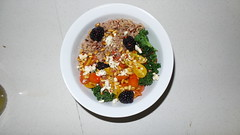 Blackberry and Pine Nut Salad (freckkkkkles) Tags: food pine cheese tomato living healthy blackberry yum rice nuts kale feta