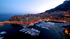 Port de Fontvieille, Monaco (benmfulton) Tags: longexposure skyline architecture port marina boats nikon mediterranean nightshot harbour dusk montecarlo monaco ctedazur bluehour ultrawide fontvieille mediterraneansea d800 frenchriviera nighttimephotography provencealpesctedazur portdefontvieille principalityofmonaco nikkor1424f28 nikond800