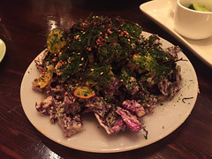Mission Chinese - Red Cabbage Salad (sesame, anchovy, seaweed crunchy buckwheat) (willy cheesesteak) Tags: nyc newyorkcity food ny newyork les chinesefood lowereastside chinese redcabbagesalad missionchinesefood missionchinese missionchinesenewyork missionchineseny