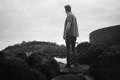 looking out to the ocean (gorbot.) Tags: blackandwhite me monochrome tenerife silverefex panasoniclumixgf1 20mmlumixf17