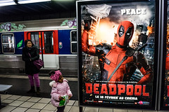 PEACE (nARCOTO) Tags: paris train ladefense deadpool