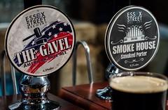 Beer Pump Labels (Essex Street Brewery) (High ISO) (Olympus OMD EM5II & mZuiko 40-150mm F2.8 Pro Zoom) (markdbaynham) Tags: city uk urban london zoom capital evil olympus gb pro zuiko f28 omd csc oly mz londonist zd 40150mm mirrorless mzuiko em5ii zuikolic