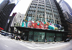 The Seamonster Who Destroyed Chicago (kirstiecat) Tags: chicago students architecture mural downtown loop politics rally protest politicians imagination strike teachers seamonster cps destructive ctu neocons charters chicagopublicschools rahm rauner chicagoteachersunion faircontractnow