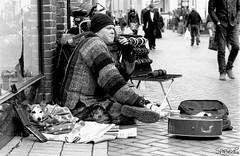 35mm Film - Chelmsford Street Vendor (sparkeyb) Tags: city dog film 35mm nikon oldstyle 35mmfilm hp5 analogue developed ilford streetvendor chelmsford f601