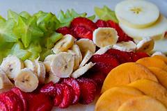 Five fruits (Poupetta) Tags: food apple fruits israel strawberries banana persimmon carambola