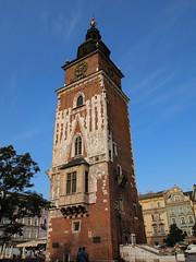 Krakow square - tower (Ciddi Biri) Tags: city building tower clock architecture kitlens poland polska krakow clocktower historical mimari kule polonya epl3 1442l m43turkiyecom