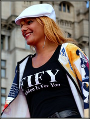 Fashion is for you (* RICHARD M) Tags: street liverpool portraits happy candid caps models smiles style happiness portraiture blonde attractive fashionshow scousers modelling pierhead stylish fashions fashionable whitecap merseyside streetportraits fashionparade capitalofculture streetportraiture candidportraits europeancapitalofculture liverpudlians candidportraiture fify maritimemercantilecity verybigcatwalk fashionisforyou