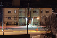 ttc zooms by (theharv58) Tags: nightphotography nightshots cityscene nighttraffic m42lens manuallens canon60d canoneos60d asahiopticalcompany fotodioxprolensadapterm42tocanoneos fotodioxprom42toeosadapter asahipentaxsupertakumar135mmf35lens