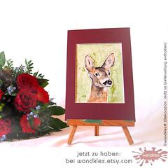 Reh_etsy (wandklex Ingrid Heuser freischaffende Künstlerin) Tags: hund etsy etsyshop dawanda auftragsmalerei wandklex wandkleks wandklecks etsyresolution2016 etsyresolutionde