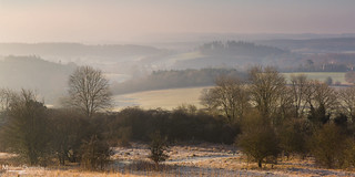 Sunrise at Newlands Corner