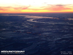 Aerial view of Montrgie and Beauharnois channel, on the St-Lawrence river (nizega) Tags: sunset canada night island dawn lights downtown view quebec montreal aerial lasalle mercier est ndg verdun hochelaga villeray