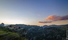 Sunset @Meteora (and641) Tags: longexposure sunset mountain clouds landscape wideangle landmark greece monastery orthodox meteora kalambaka thessaly nd1000 tokinaaf1116mmf28 nikond5100
