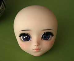 Makeup commission on Pullip + handmade eyechips (Nina's Doll *MAKEUP COMMISSION CLOSED*) Tags: make carved doll ooak makeup it carving carve full mio groove pullip custom fc own sculpted sculpt faceup modd ninadoll fullcusto ninakillyou ninasdoll