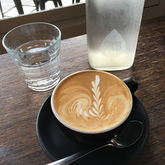 Flat white coffee time at Little Somethin Somethin in Richmond