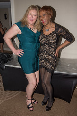 Deborah & Kacey! (kaceycd) Tags: pumps highheels lace s tgirl seethrough stilettoheels pantyhose crossdress spandex lycra tg stilettos seethru minidress sexypumps opentoepumps peeptoepumps