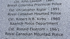 "Remembering Constable Robert ""Barry"" Kirby (wjis21) Tags: plaque memorial tomb parliament legislature lawenforcement cairn spd victoriabc saanich parliamentbuildings"