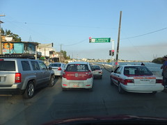 Undefined lanes (stevenbrandist) Tags: road travel red sign mexico traffic taxi travelogue tuxpan