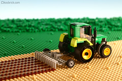 Plowing Tractor (kosbrick) Tags: tractor lego farm competition event plow plough npu paintroller mocironbuilder