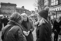 Mar 2016 (ammgramm) Tags: uk england bw white black blackwhite women cheshire naturallight grimace macclesfield 18mm xpro1 treaclemarket fujifilmxpro1 fujinon18mmf2r