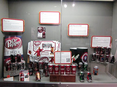 Dr Pepper + Avengers (pr0digie) Tags: museum waco display ironman drpepper movies cans collectible thor marvel captainamerica 7up avengers