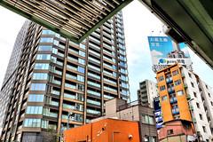 downtown, Kitahama, Osaka (jtabn99) Tags: road street bridge building japan skyscraper town downtown sidewalk nippon osaka  nakanoshima   kitahama      20160406