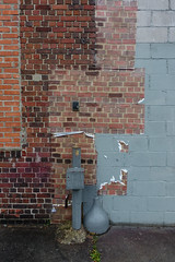 brick and fake brick and cinder and fake brick (nicknormal) Tags: brick cinderblock longislandcity cinder