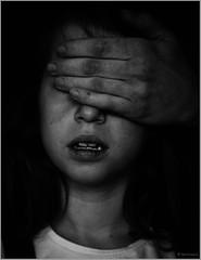 """when evil shows itself"" (B.Graulus) Tags: brussels blackandwhite monochrome canon photography child belgium belgique belgi belgica bnw nowar canon600d"