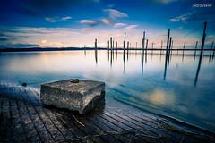 reflections (Steffen Dufner Photography) Tags: lake landscape seaside wasser exposure sonnenuntergang outdoor swiss himmel wolke filter nd bodensee constance 1740 6d langzeitbelichtung longtime