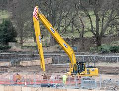 Digging Deep. (HivizPhotography) Tags: road uk bucket construction long little boom special aberdeen reach custom northeast komatsu digger excavator tracked ab2000 awpr pc360lc