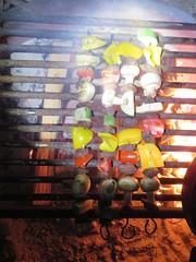 Dinner! (spork_spelunking) Tags: california statepark camping food hot vegetables dinner outdoors desert meat adventure campfire anzaborrego wander skewers