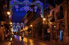 Palermo (Massimo Frasson) Tags: italy strada italia gente monumento festa palermo notturna oldcity sicilia centrostorico pittoresco festapatrono