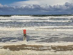 Strand Ameland (MJ Klaver) Tags: sea sky water clouds wadden nederland shore ameland kust lx100