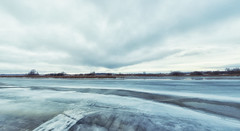Melting bayou (andrey.senov) Tags: sky panorama ice clouds river spring fuji russia bayou april fujifilm volga     kostroma    xa1    45faves  fujifilmxa1