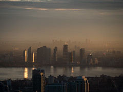 Humber Bay (Jack Landau) Tags: city sunset urban mist toronto ontario canada skyline bay lakeontario mississauga humber