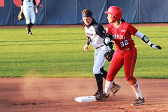 Safe at Second (RPahre) Tags: softball universityofnebraska universityofillinois urbana illinois secondbase safe alliebauch alyviasimmons robertpahrephotography copyrighted donotusewithoutwrittenpermission betterthanyouthink donotusewithoutpermission