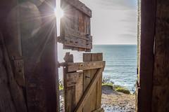 Inside 'Hawker's Hut' (NVOXVII) Tags: wood sea sky history texture landscape coast nikon cornwall view perspective explore adobe lightroom lightflare morwenstow d3200