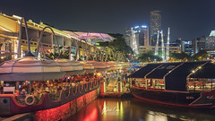 _DSC8400-wm (patlawhl) Tags: ltm singapore outdoor jupiter12 nightscene nightlife russian bumboat clarkequay singaporeriver 3528 vintagelens oldlens colorgrading sonyalpha mirrorless patlaw sonya7r