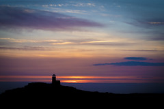 Belle Tout Lighthouse at Sunset (Matt Kuchta) Tags: park sunset lighthouse downs sussex countryside south east national eastbourne belle tout